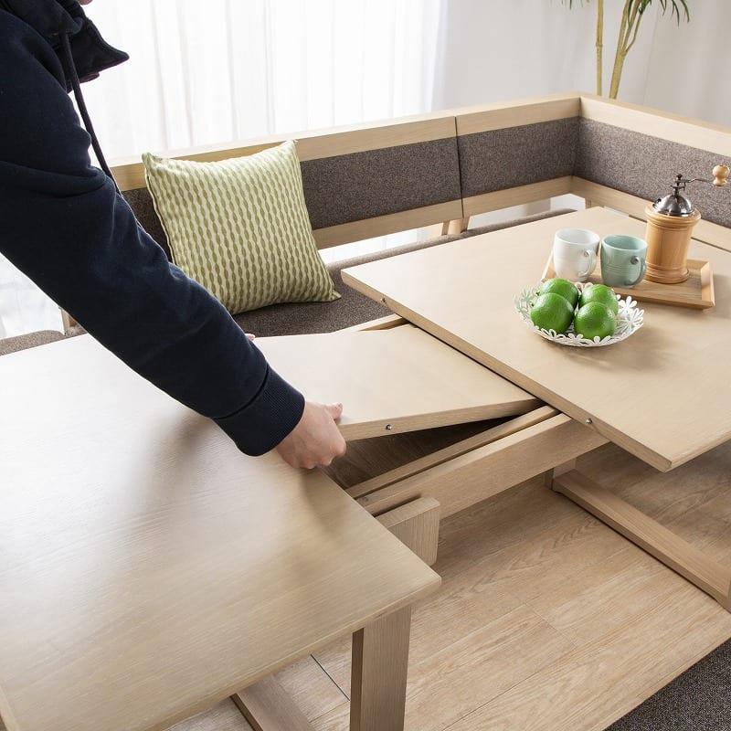 LDチェアベスト/ジャスト 120伸長チェア(L):伸長式テーブル機能
