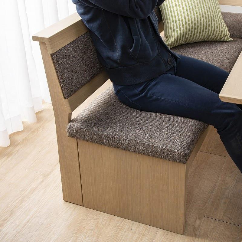 LDチェアベスト/ジャスト 140カウチ(L):お食事も寛ぎも両立できるソファー