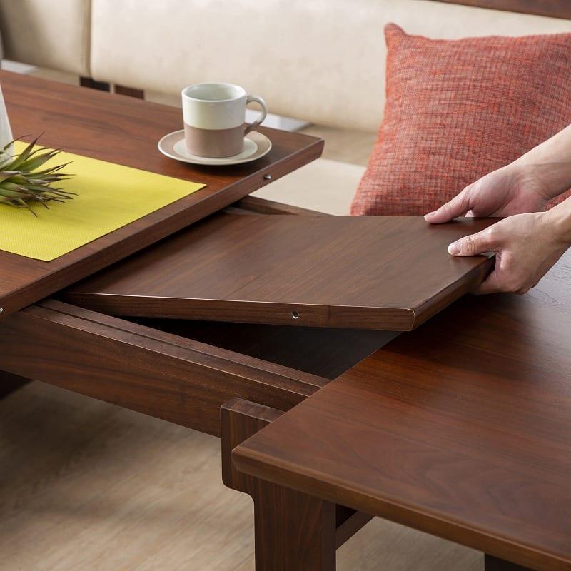 LD4点(L)セット ゲスト LDテーブルWH+伸長チェアL+カウチL+80ベンチ WH:伸長式テーブル機能