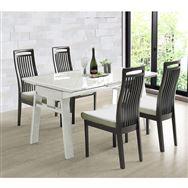 ダイニング5点セット シフト140伸長テーブル/セーヌチェア WH