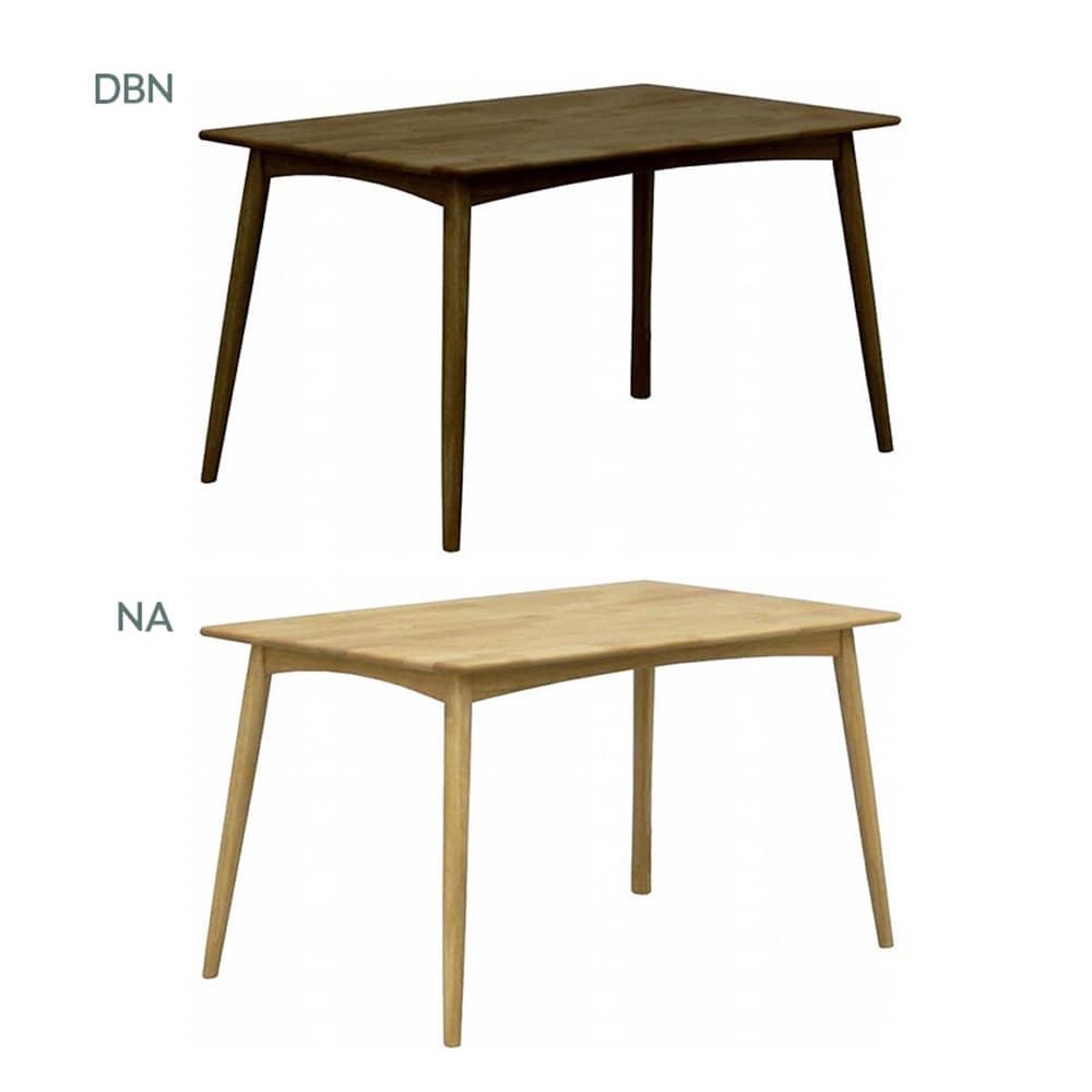 ダイニングテーブル リーフパーク 125 DT NA:ベンチスタイルで解放感UP
