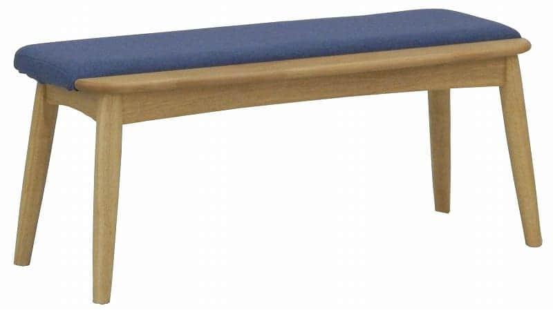 ダイニングベンチ リーフパーク DB NA・ブルー:心安らぐコンビネーション