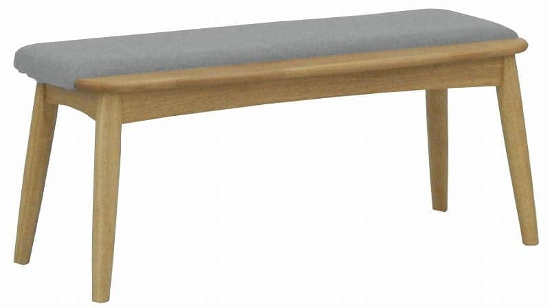 ダイニングベンチ リーフパーク DB NA・グレー:心安らぐコンビネーション