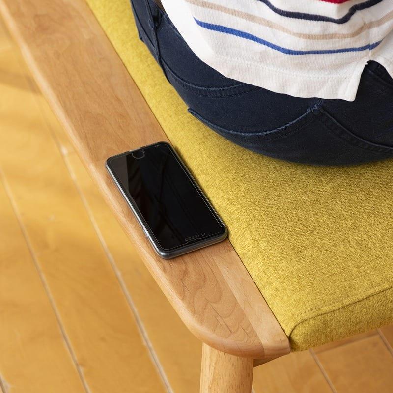ダイニングチェア替えカバー リーフパーク バード DC用 ブルー:便利なチョイ置きスペース