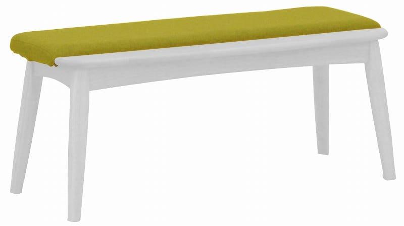 ダイニングベンチ替えカバー リーフパーク ベンチ用 イエロー:心安らぐコンビネーション カバーのみの販売です