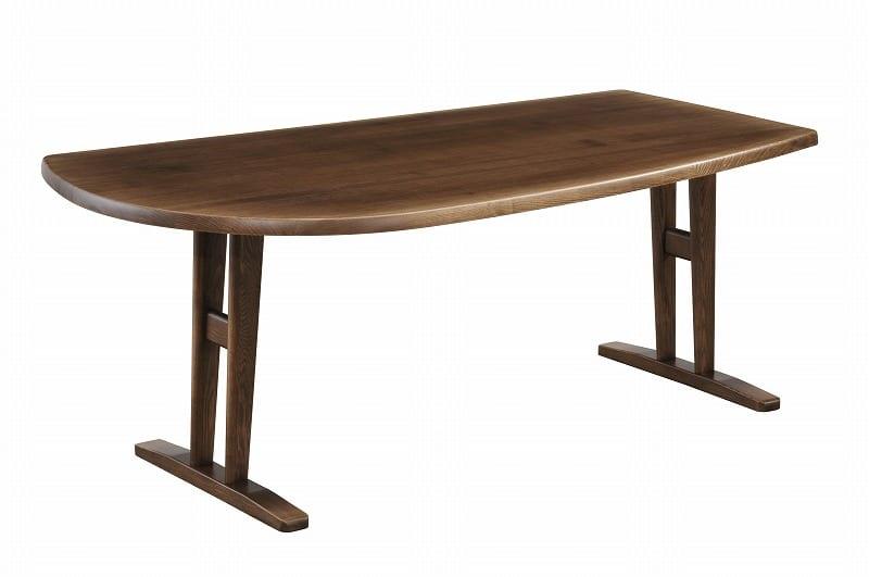 ダイニングテーブル シード 180−95変形(R指定)AT:ダイニングテーブル
