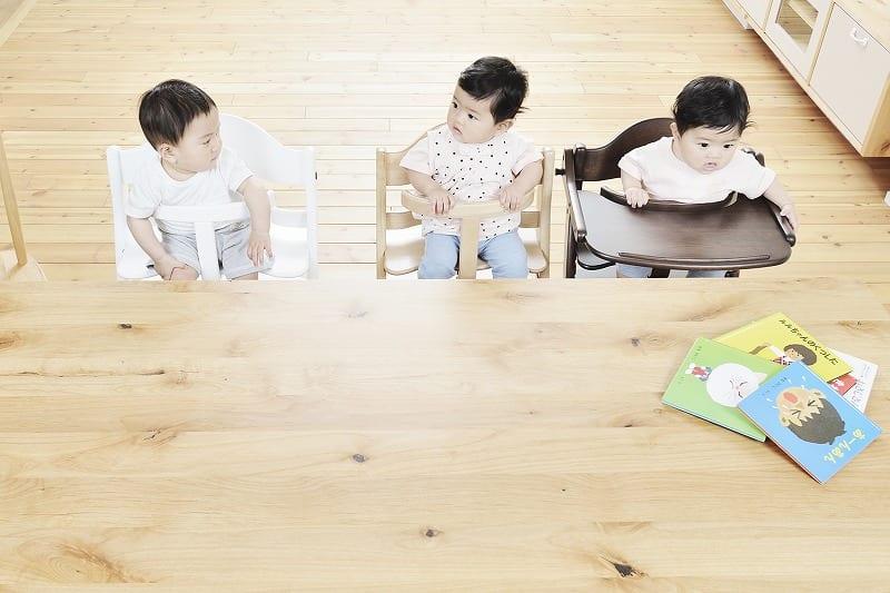 ベビーチェアー すくすくプラス 【テーブル付】1506RD
