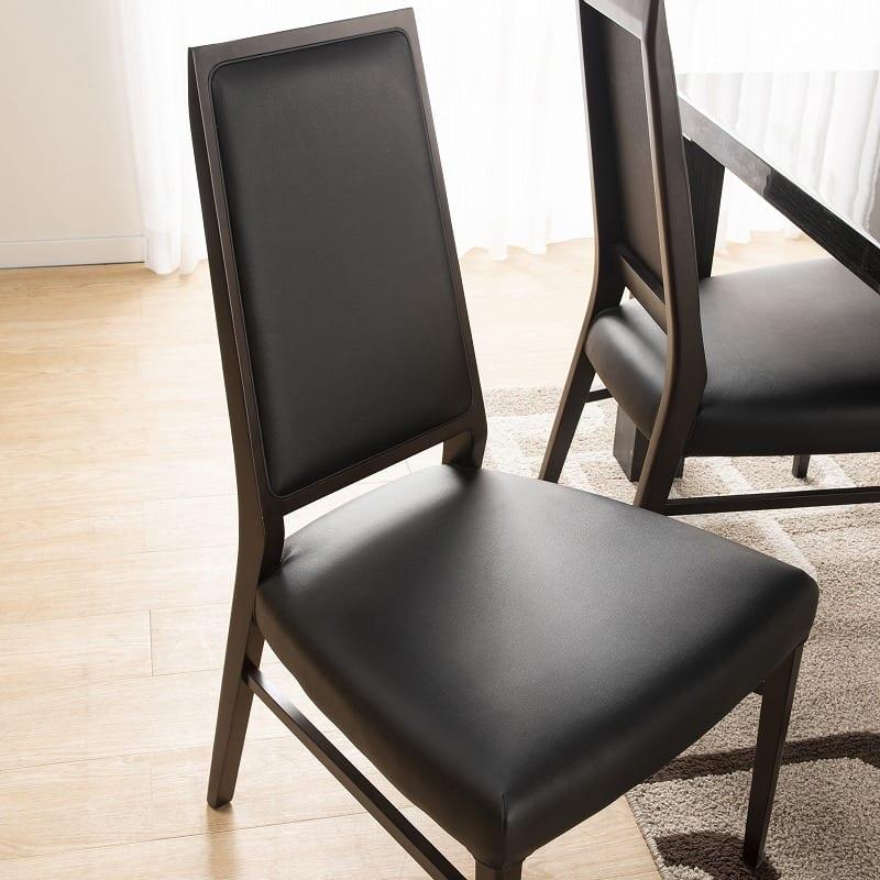 ダイニングテーブル セーヌ�Uテーブル 天板WH/脚BK:見た目と機能を両立