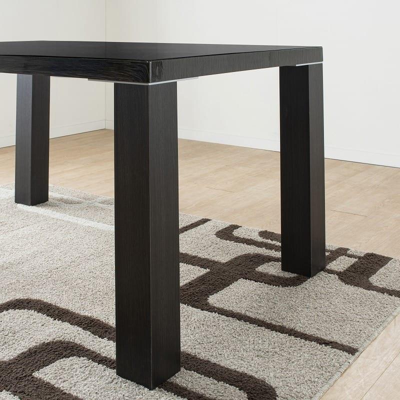 ダイニングテーブル セーヌ�Uテーブル 天板BK/脚BK:テーブル脚の重厚感