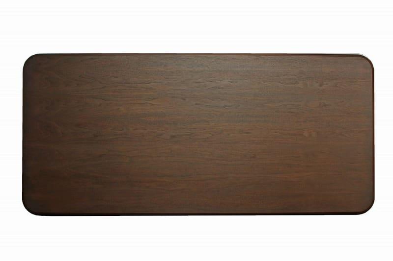 テーブル ロベルト 幅195cm ダークブラウン
