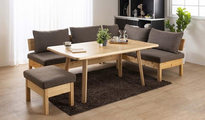 LDテーブル 優125テーブル:ダイニングとリビングの一体型スタイル