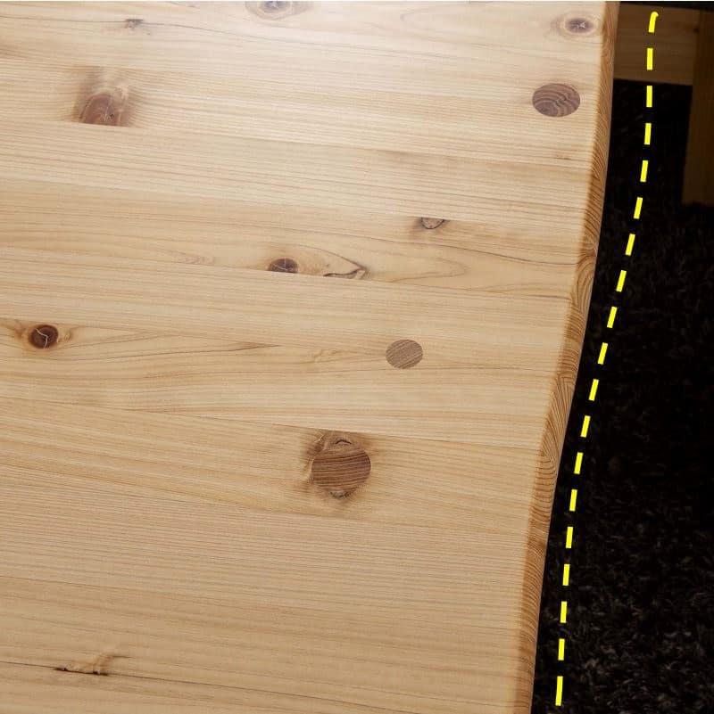 LDテーブル 優155テーブル:波打つ優しい丸みの小口