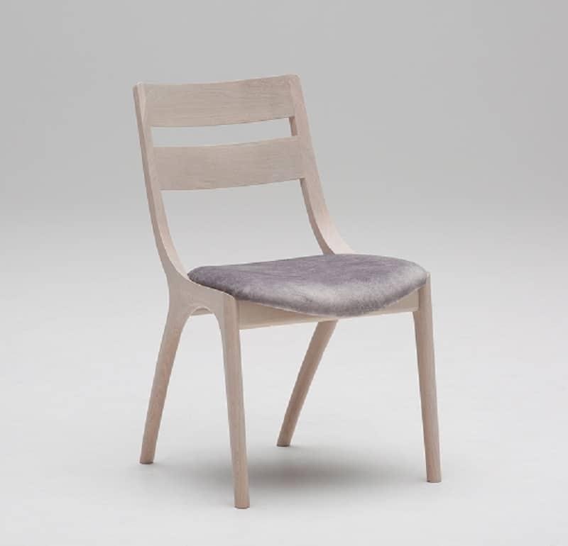 ダイニングチェアサイン 肘無椅子C18605CYG マーブルプラチナ/Y:家族の会話が弾む変形テーブル