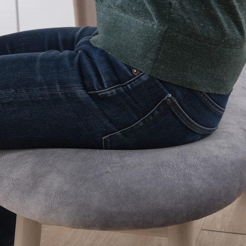ダイニングチェアサイン 肘無椅子C18605CYG マーブルプラチナ/Y:もっちりした優しい座り心地