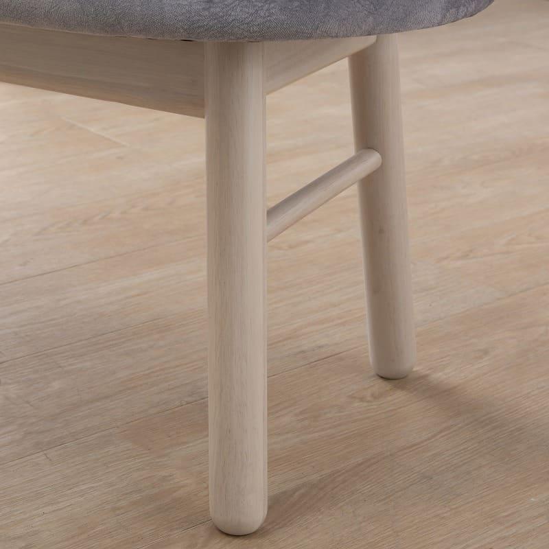 ダイニングチェアサイン 肘無椅子C18605CYG マーブルプラチナ/Y:ベンチの丸みに合わせた丸脚