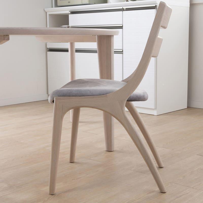 ダイニングチェアサイン 肘無椅子C18605CYG マーブルプラチナ/Y:国産技術の匠のデザイン
