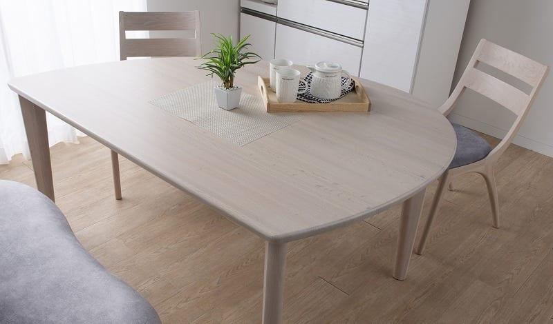 ダイニングテーブル サインD18519MYG 左 シアーホワイト