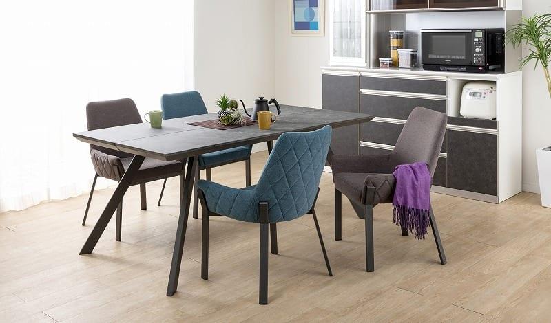 ダイニングテーブル ガリシア 180DT 4本脚 BK:モダンなデザインで機能的なダイニングセット