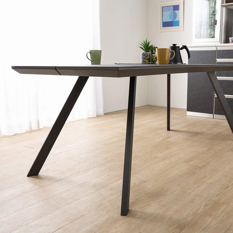 ダイニングテーブル ガリシア 180DT 4本脚 BK:スチール脚