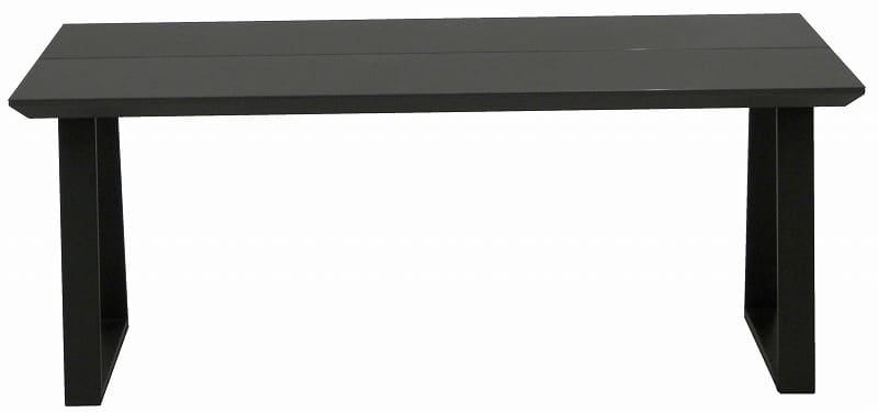 ダイニングテーブル ガリシア180DT 2本脚 BK天板