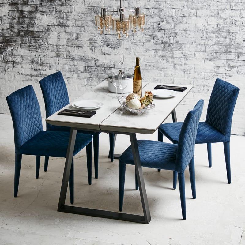 :デザインすっきり2本脚テーブル