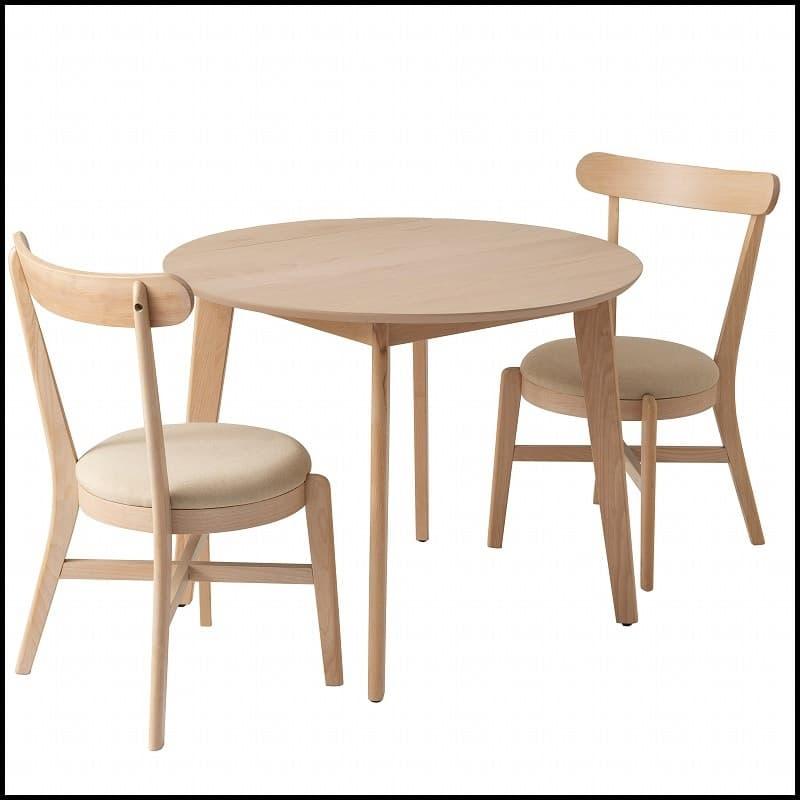 ダイニングテーブル マリン90:キュートな丸みのデザイン
