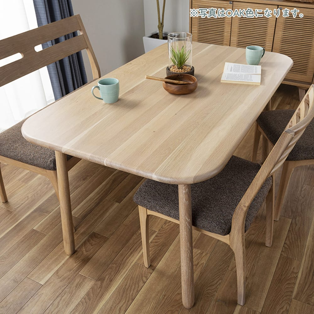 ダイニングテーブル CWT−001 幅135 OAK(オーク):木材の表情もそれぞれ違うから良い