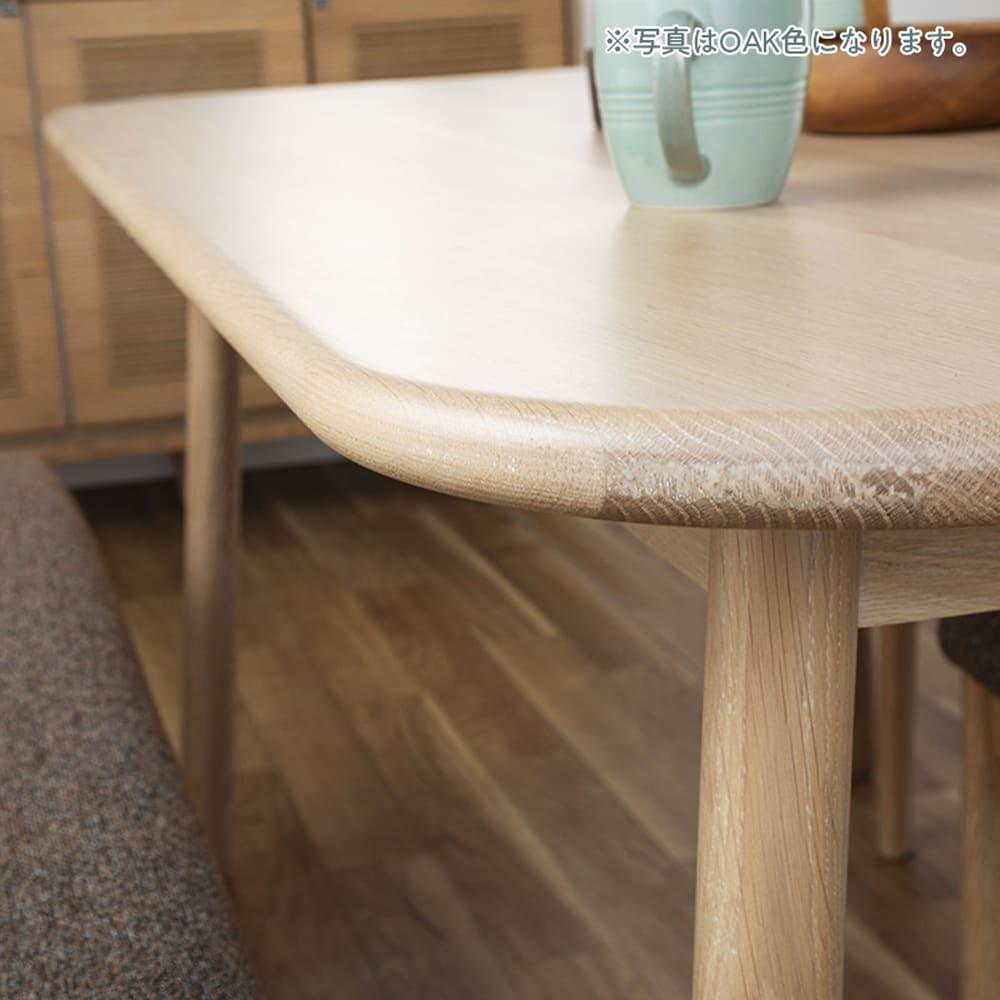 ダイニングテーブル CWT−001 幅135 OAK(オーク):安全にも配慮