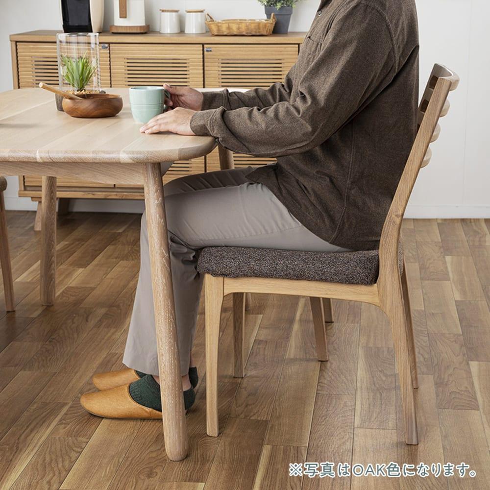 ダイニングテーブル CWT−001 幅135 OAK(オーク):心地よいファブリック