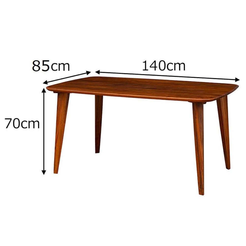 ダイニングテーブル CWT−002 幅140 WN(ウォールナット)