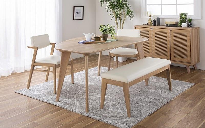 ダイニングテーブル CWT−004 L OAK(オーク):お部屋の雰囲気を柔らかくしてくれるダイニングセット