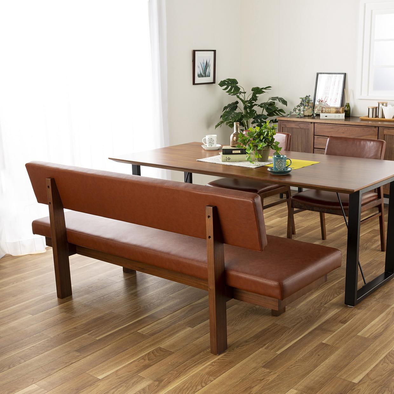 ダイニングテーブル CWT−005 150指定 OAK(オーク):後ろ姿も素敵なベンチ
