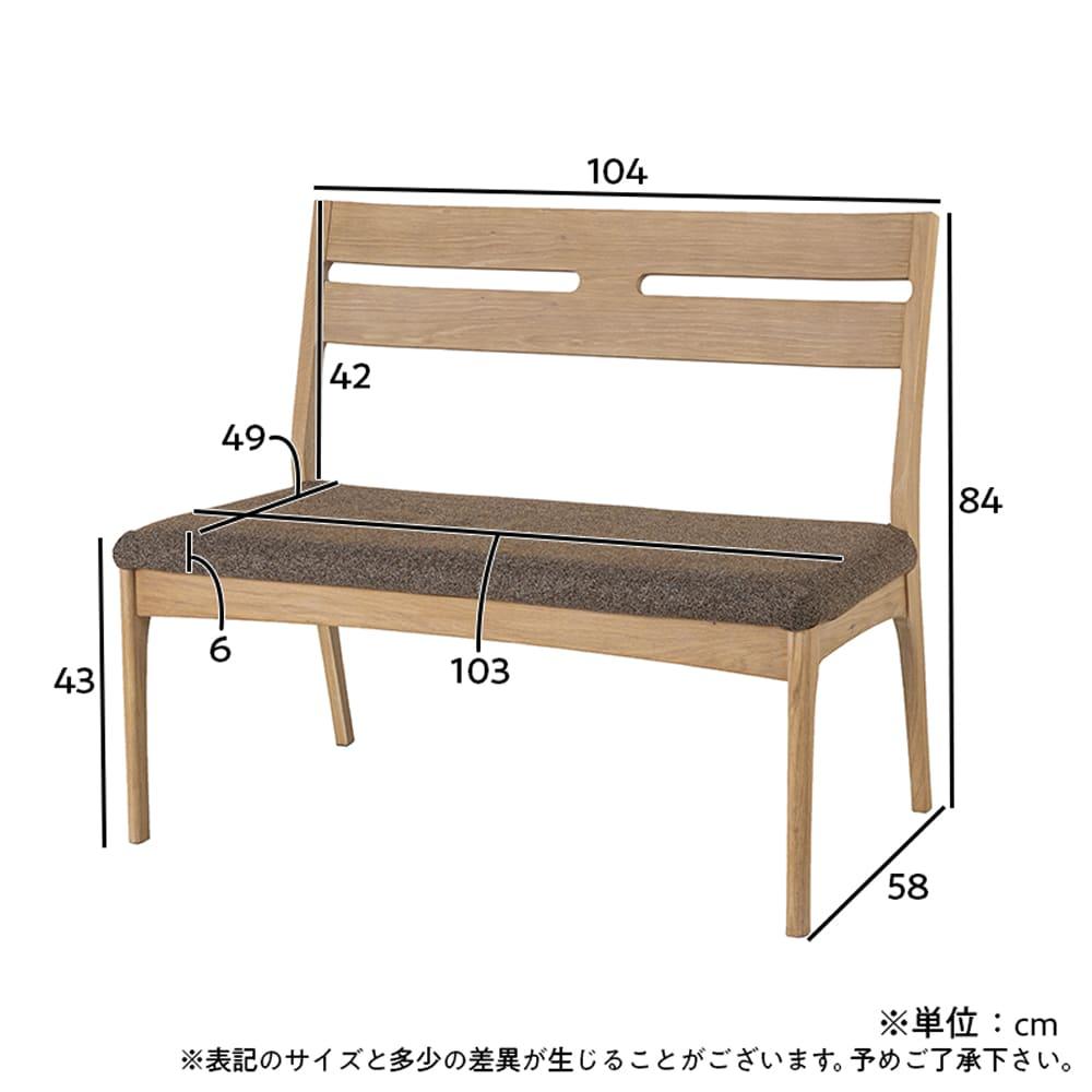 背付ベンチ CWB−001 OAK/BR