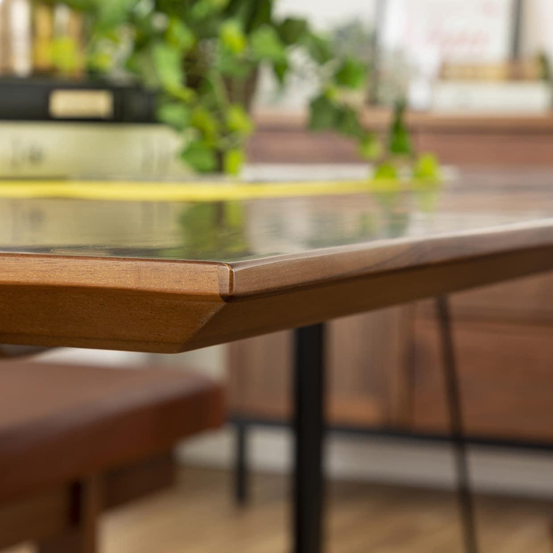 背付ベンチ CWB−003 180ベンチ OAK:テーブルの縁が特徴的