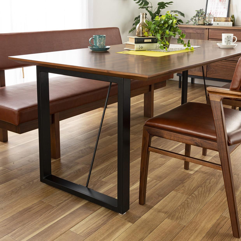 背付ベンチ CWB−003 180ベンチ OAK:テーブル脚部が特徴的
