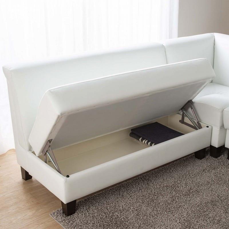 LD3点セット ビストロ�U(ホワイトTEL901/木脚DW) ※テーブル別売:収納スペース完備