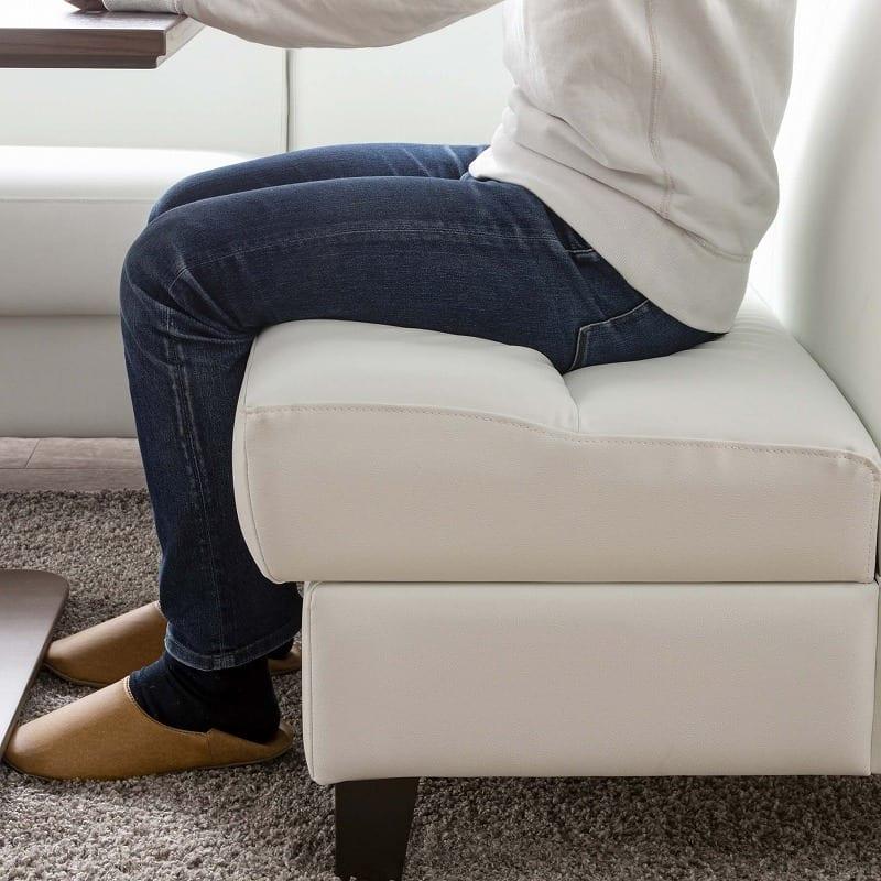 LD3点セット ビストロ�U(ホワイトTEL901/木脚DW) ※テーブル別売:お食事しやすい程よい座り心地