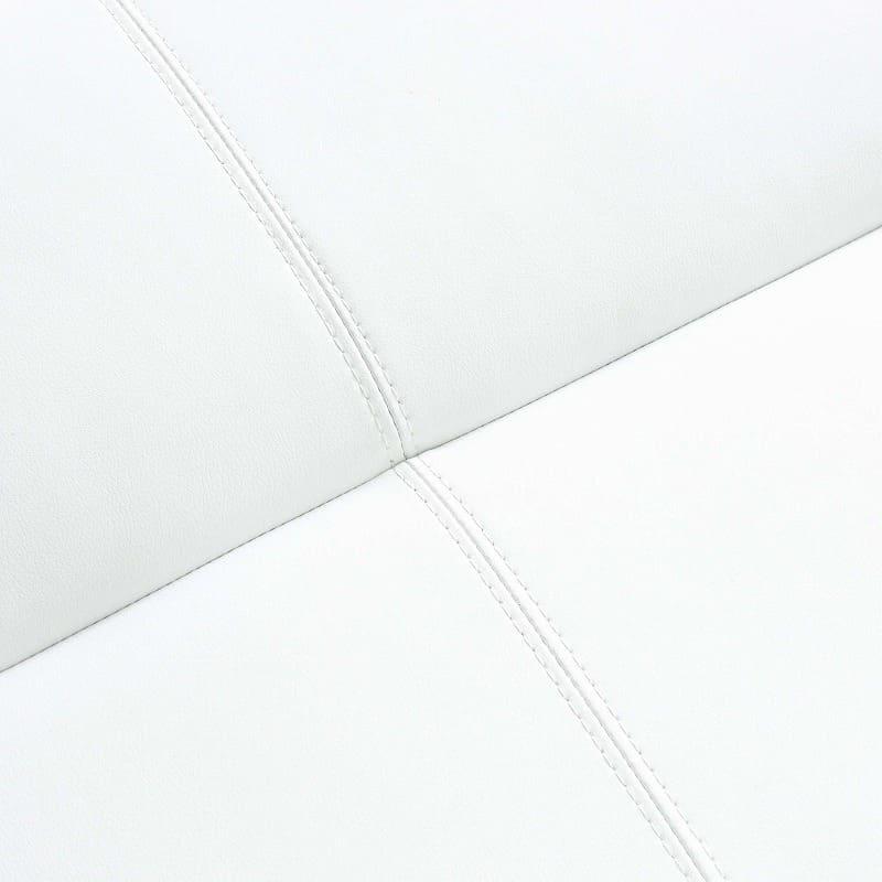LD3点セット ビストロ�U(ホワイトTEL901/木脚DW) ※テーブル別売:ステッチ使いがかわいいアクセント