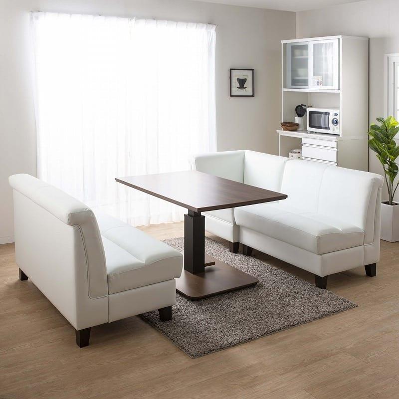 LD3点セット ビストロ�U(ホワイトTEL901/木脚DW) ※テーブル別売:組み換え自由自在