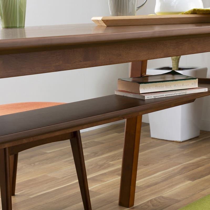 木製デスク(ライト付) クオーレ WN/ライトBK:テーブル下には収納棚付き
