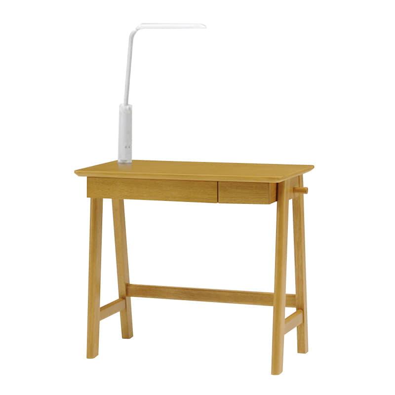 木製デスク(ライト付) クオーレ NT/ライトWH:【デスク・ライト単体の商品です】※チェア・小物は別売りです