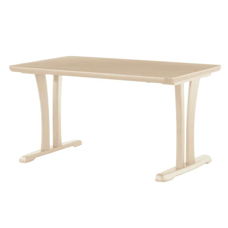 ダイニングテーブル CCM3 125−75X 2本脚 ホワイト(MWH):ダイニングテーブル