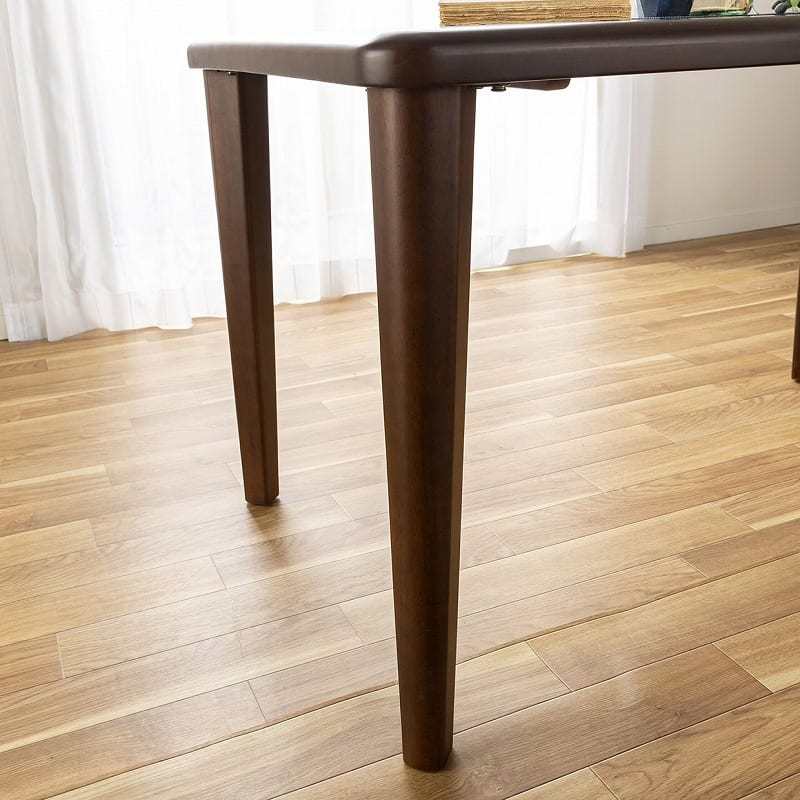 ダイニングチェア ロードPLUS ブラック(MBK)/ベージュ(FPBB):特徴的なテーブル脚
