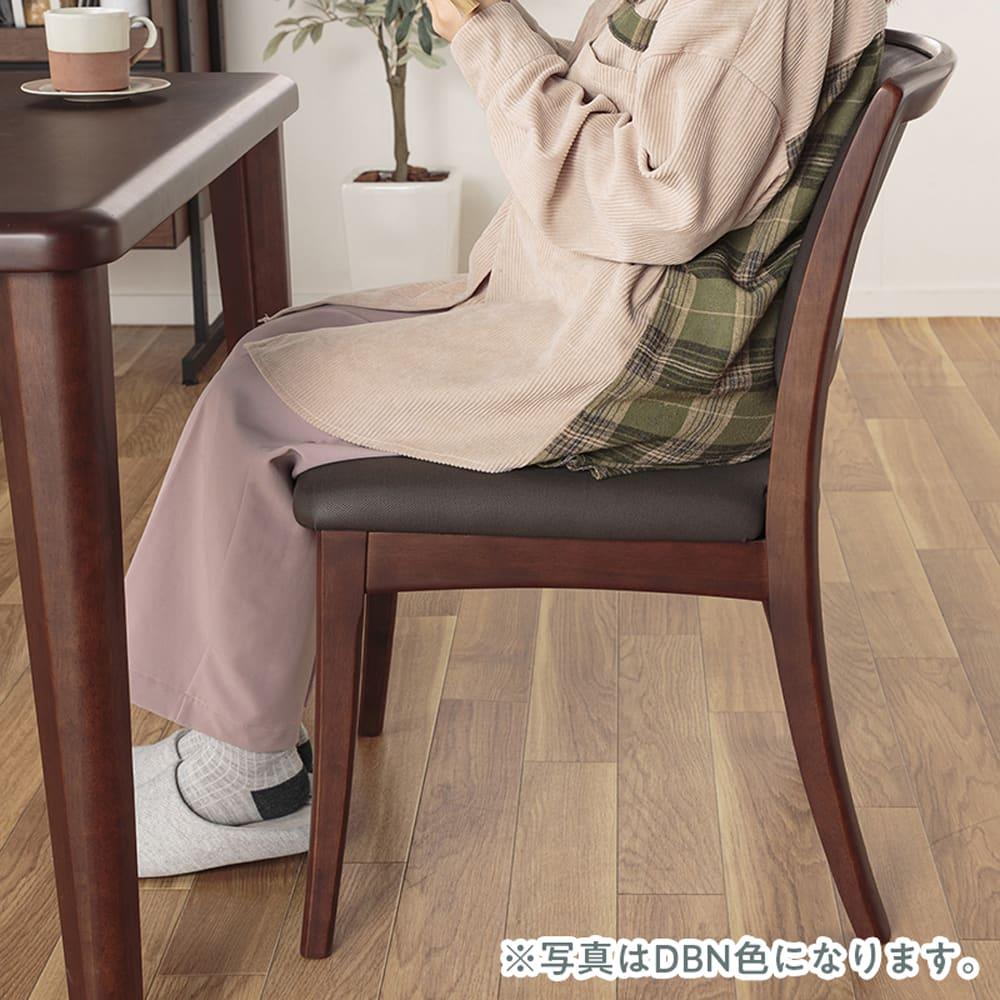 :弾力のある座り心地