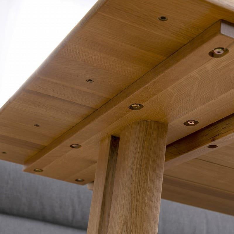 LDソファ ブレード�U 背付ベンチ BL−B140 WN/布OR:テーブル脚の位置が変えられる