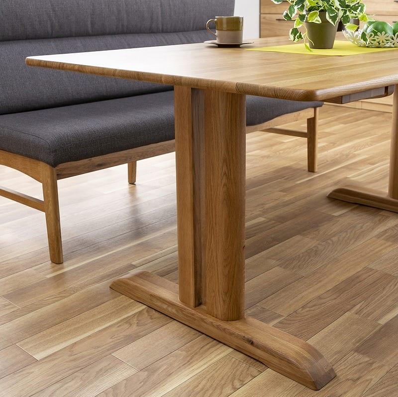 LDソファ ブレード�U 背付ベンチ BL−B140 WN/布OR:安定感のあるテーブル脚