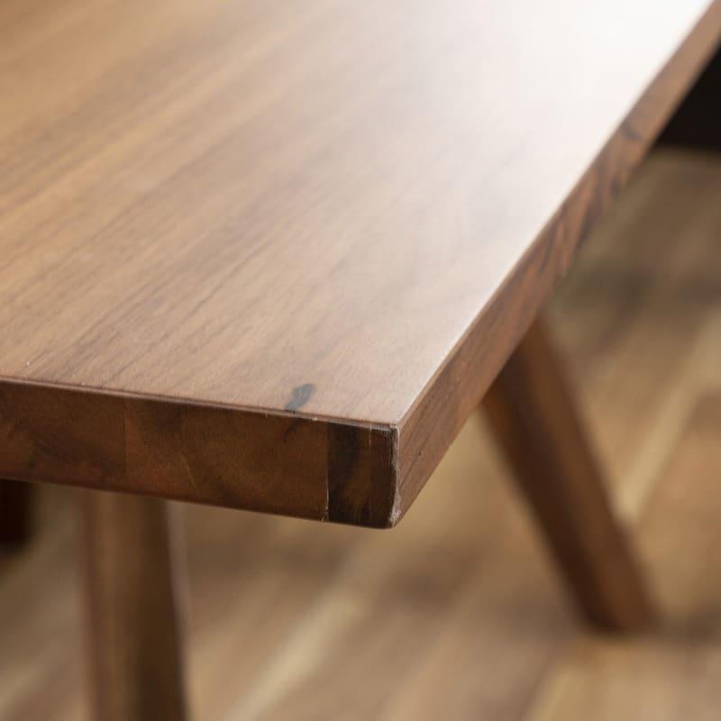 LD3点セット マルクト テーブル/3人掛けソファ/片肘シェーズ (ウォールナット/LR23ローストBR)