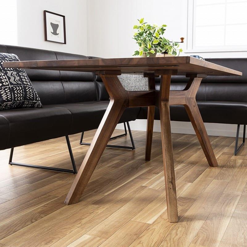 LDテーブル マルクト 150 ウォールナット:脚部が特徴的なダイニングテーブル