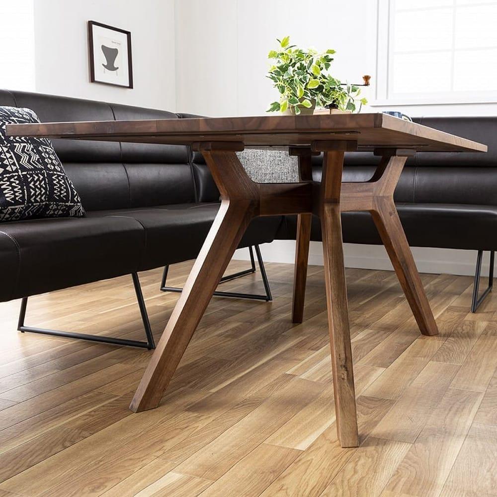 2人掛け片肘チェア(左セット用) マルクト:脚部が特徴的なダイニングテーブル