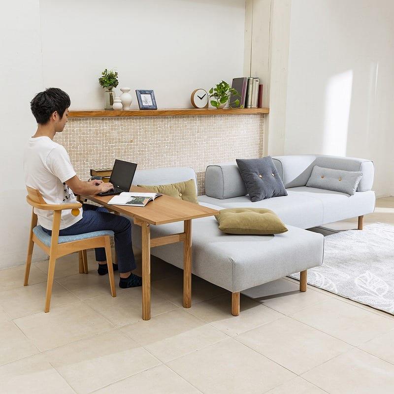 LDテーブル ムーフLDT135 OAK:リビング学習スタイル